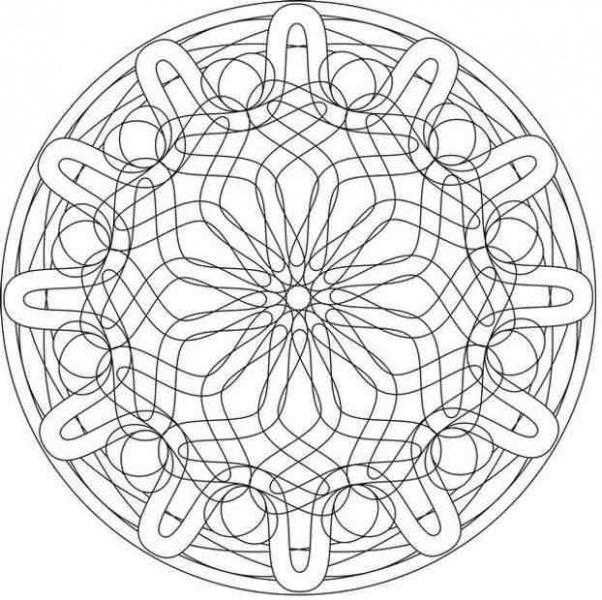 эскиз мандалы