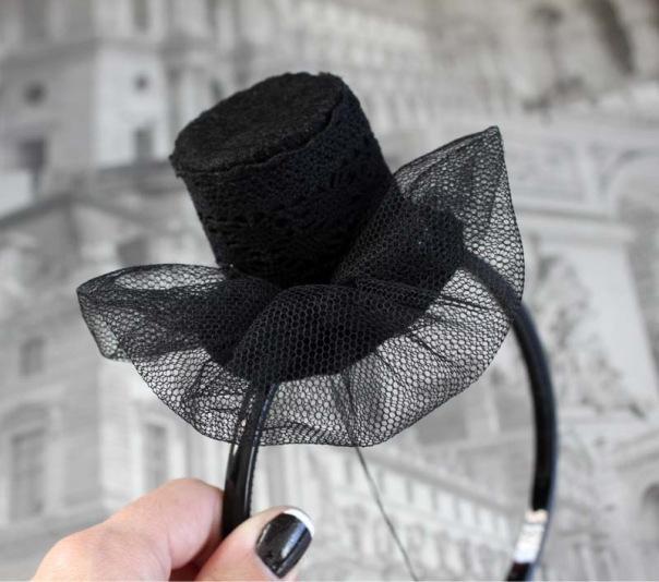 Шляпка на ободке своими руками 517