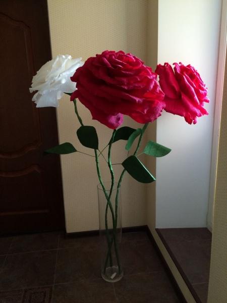 Как сделать огромные цветы из бумаги фото 753
