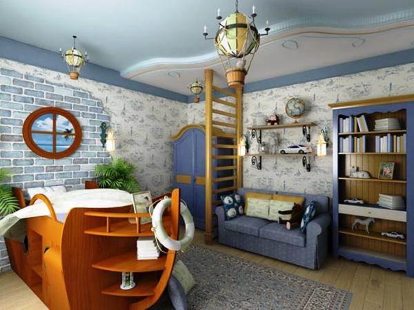 интерьер детской комнаты для мальчиков и девочек с фото