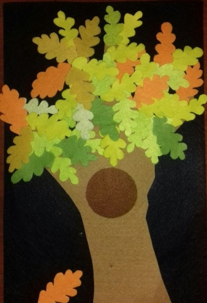 аппликация дерево