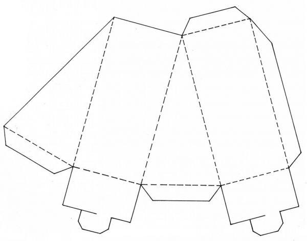 Большой олень из картона шаблон