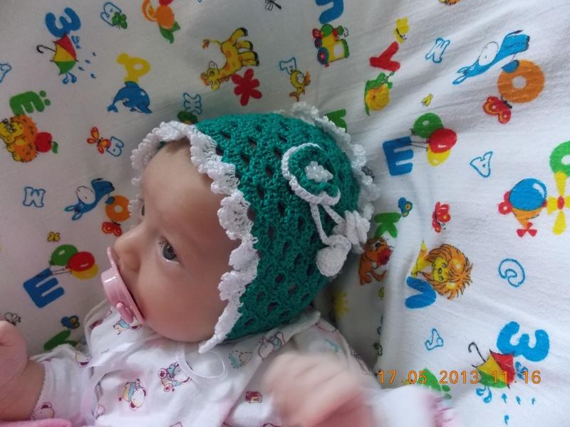 схема вязания чепчика для новорожденных крючком