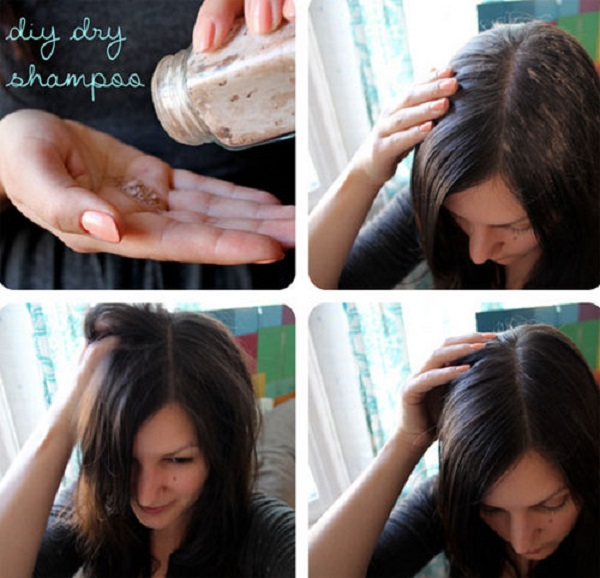 сухой шампунь своими рукамикак наносить