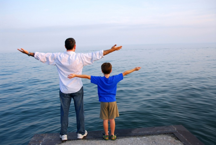пап и сын