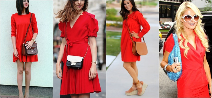 выбираем клатч к красному платью